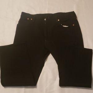 Levi's 501 mens black Jean's Sz W40 L30